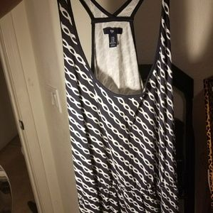 Gap blue & white chain pattern dress